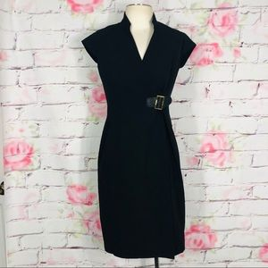 Calvin Klein buckle front sheath dress